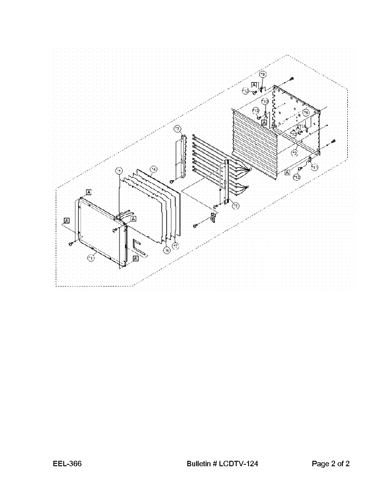 SHARP LCDTV-124 LC20B1U LC20B2UA[UB] LC20B4US LC20E1U[UB